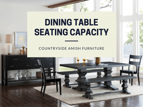 Dining Table Size & Seating Capacity Guide   Choosing A For Contemporary 6 Seating Rectangular Dining Tables (View 13 of 25)