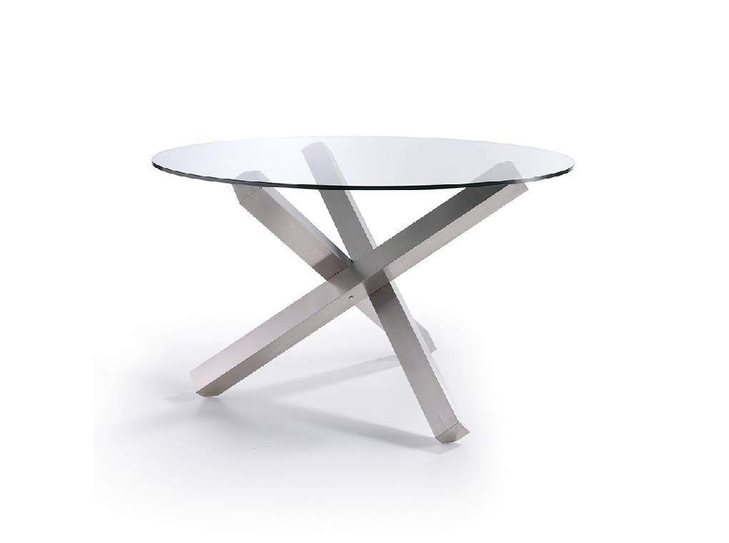 Dining Table With A Polished Stainless Steel Base – Angel Inside Long Dining Tables With Polished Black Stainless Steel Base (View 12 of 25)