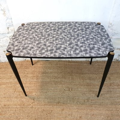 Dining Table With Formica Top & Black Metal Legs, 1950S Pertaining To Dining Tables With Black U Legs (View 21 of 25)