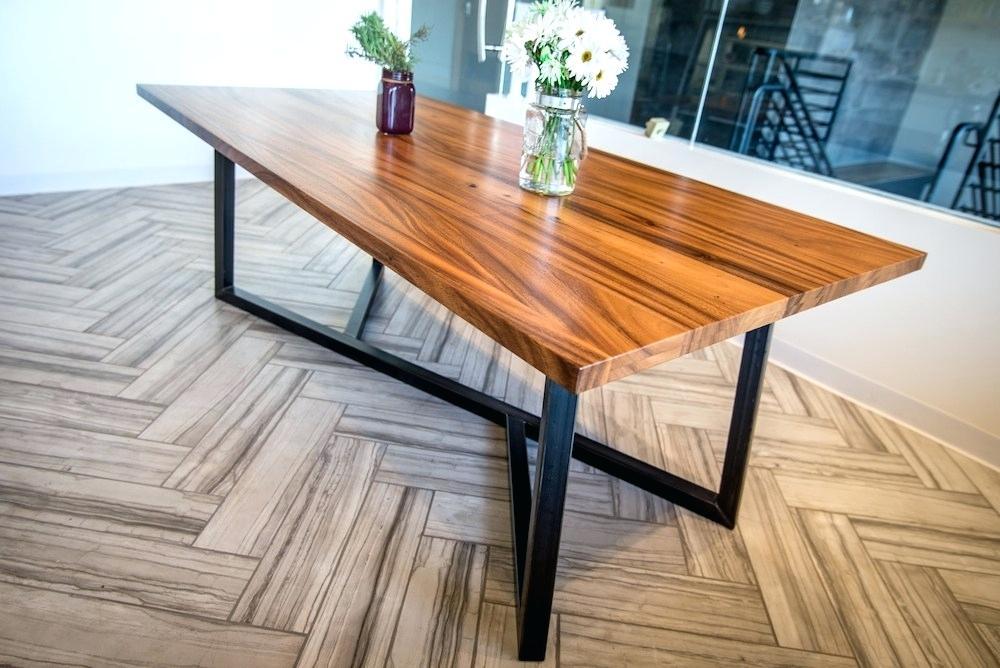 Dining Table With Metal Legs – Sitarati Inside Iron Wood Dining Tables With Metal Legs (View 5 of 25)