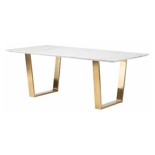 Dining Table With White Marble Top Intended For Artefac Contemporary Casual Dining Tables (Image 12 of 25)