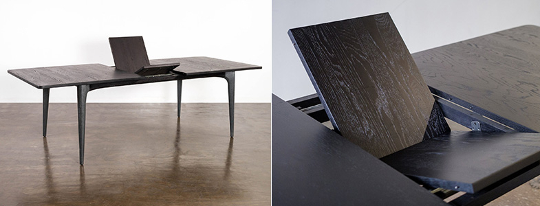 Dining Tables With Industrial Details – Rouse Home Inside Dining Tables In Smoked/seared Oak (Image 7 of 26)