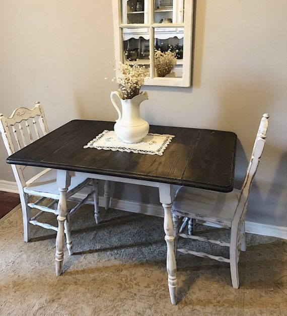 Distressed Drop/leaf Kitchen Table Small For Unfinished Drop Leaf Casual Dining Tables (View 20 of 25)