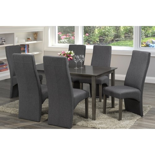 Distressed Grey Finish Wood Classic Design Dining Table Seats 6 With Small Dining Tables With Rustic Pine Ash Brown Finish (View 23 of 25)