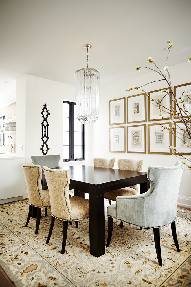 Diy Dining Room Wall Art Dining Room Transitional With In Transitional Rectangular Dining Tables (View 23 of 25)