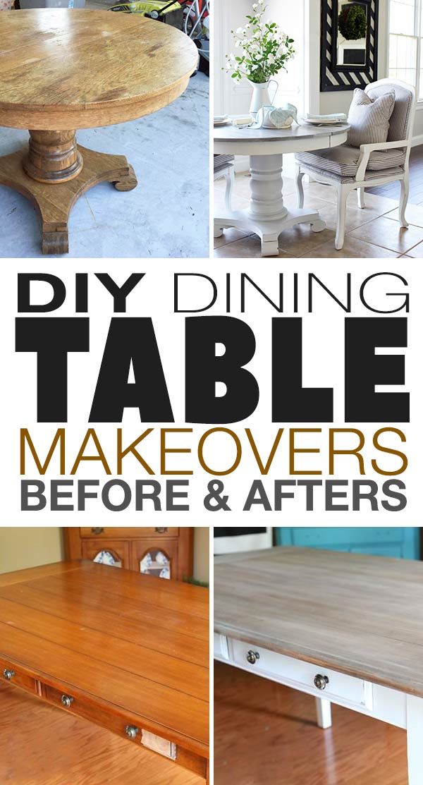 Diy Dining Table Makeovers – Before & Afters • The Budget For Wood Kitchen Dining Tables With Removable Center Leaf (View 13 of 25)