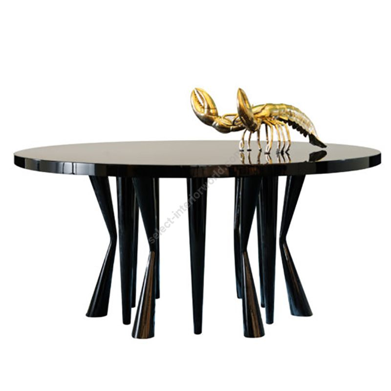 Dom Edizioni / Dinner Table / Robin Round Regarding Dom Round Dining Tables (Image 12 of 25)