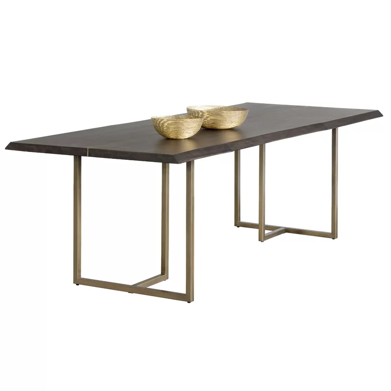 Donnelly Dining Table | Table, Dining Table Legs, Metal With Regard To Dining Tables In Seared Oak With Brass Detail (View 8 of 25)