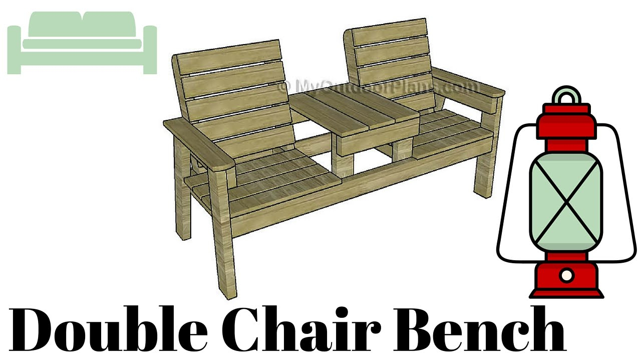 Double Chair Bench With Table Plans | Myoutdoorplans | Free With Twin Seat Glider Benches (View 23 of 25)