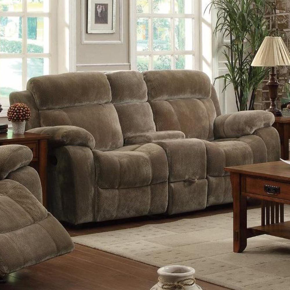 Double Gliding Loveseat W/ Cup Holders With Double Glider Loveseats (Image 10 of 25)