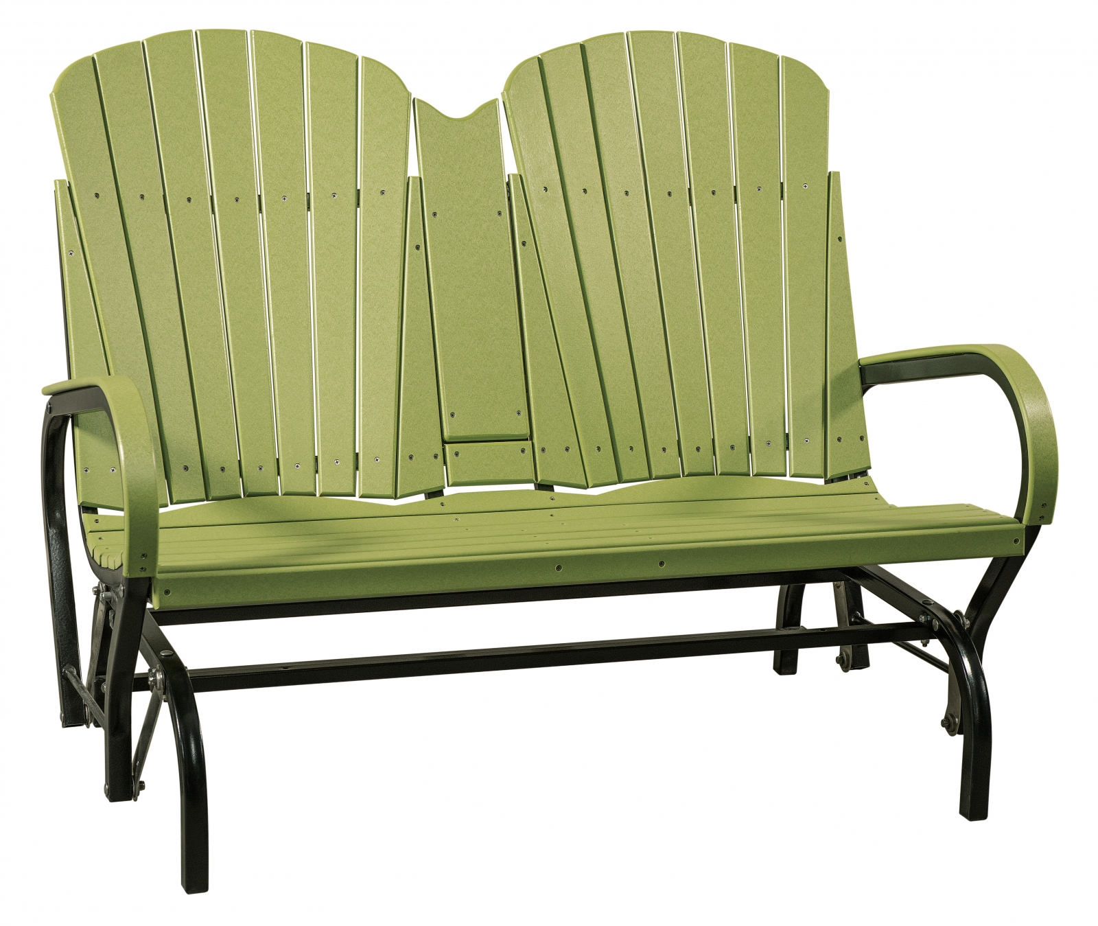 Double Seat Fan Back Glider — Everything Amish Inside Aluminum Outdoor Double Glider Benches (View 13 of 25)