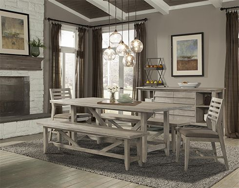 Featured Image of Transitional Driftwood Casual Dining Tables