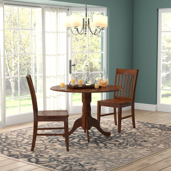 Drop Leaf Table With 2 Chairs | Wayfair With Transitional 4 Seating Double Drop Leaf Casual Dining Tables (View 22 of 25)