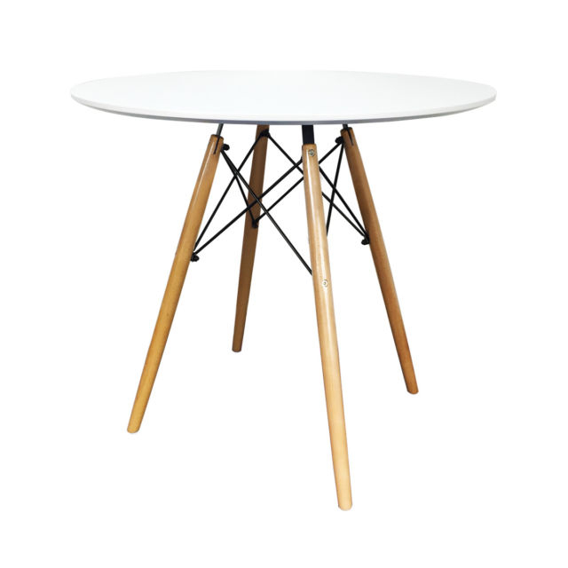 Dsw Round Dining Table Eiffel Style Lounge Bar Modern Designer 60 Or 80Cm Inside Eames Style Dining Tables With Wooden Legs (View 20 of 25)