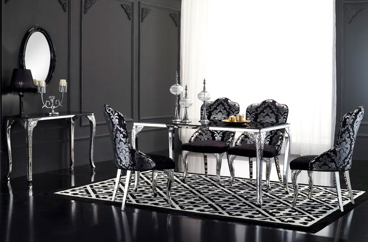 Dt02 St, China Black Glass Top Retangular Dining Table Throughout Long Dining Tables With Polished Black Stainless Steel Base (View 7 of 25)