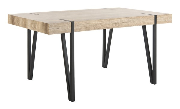 Dtb7000A Dining Tables – Furnituresafavieh Within Mid Century Rectangular Top Dining Tables With Wood Legs (Image 5 of 25)