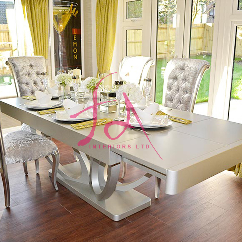 Eclipse Bespoke High Gloss Or Wood Veneer 3M Dining Table Intended For Eclipse Dining Tables (View 14 of 25)