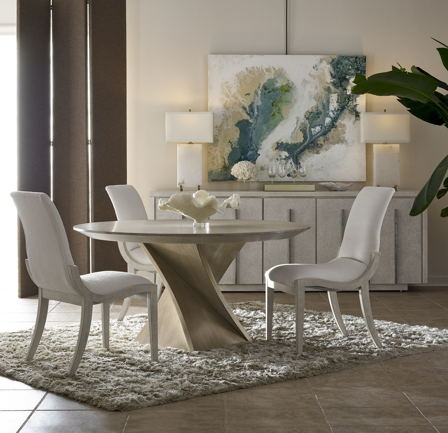 Eclipse Dining Table | Marge Carson Inside Eclipse Dining Tables (View 24 of 25)