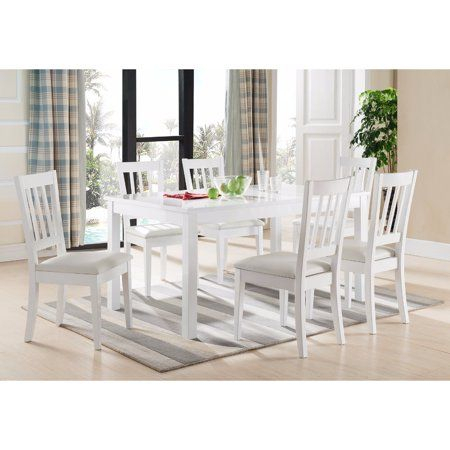 Elegant Dining Table With Smooth Top, White, Size: Medium With Regard To Medium Elegant Dining Tables (View 2 of 25)
