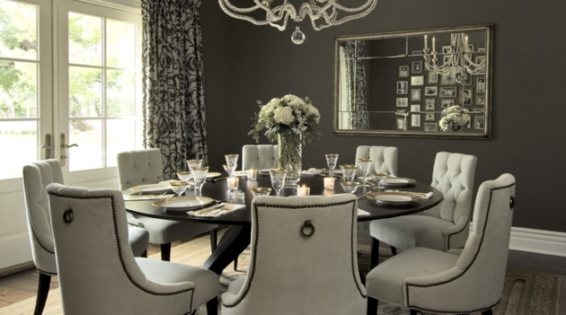 Elegant Large Round Glass Dining Table And Chair Clearance Throughout Elegance Large Round Dining Tables (Image 12 of 25)
