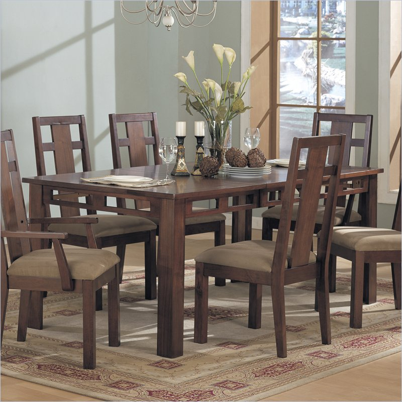 Enchantment Rectangular Casual Dining Table In Rich With Coaster Contemporary 6 Seating Rectangular Casual Dining Tables (View 6 of 25)