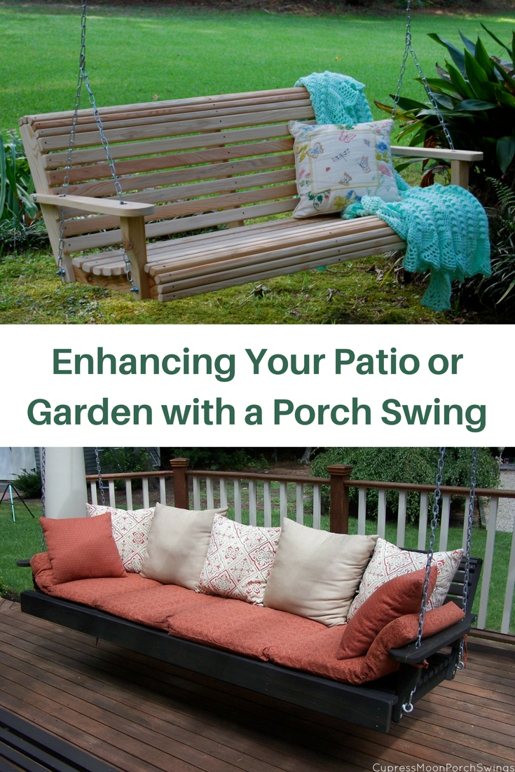 Enhancing Your Patio Or Garden With A Porch Swing Regarding Contoured Classic Porch Swings (View 9 of 25)