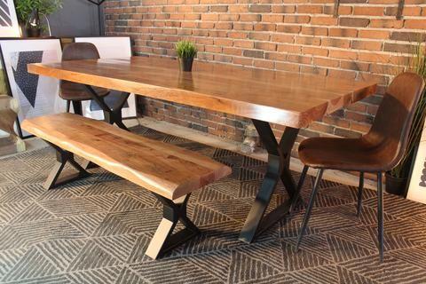Épinglé Sur Maison Regarding Acacia Dining Tables With Black X Leg (Image 17 of 25)