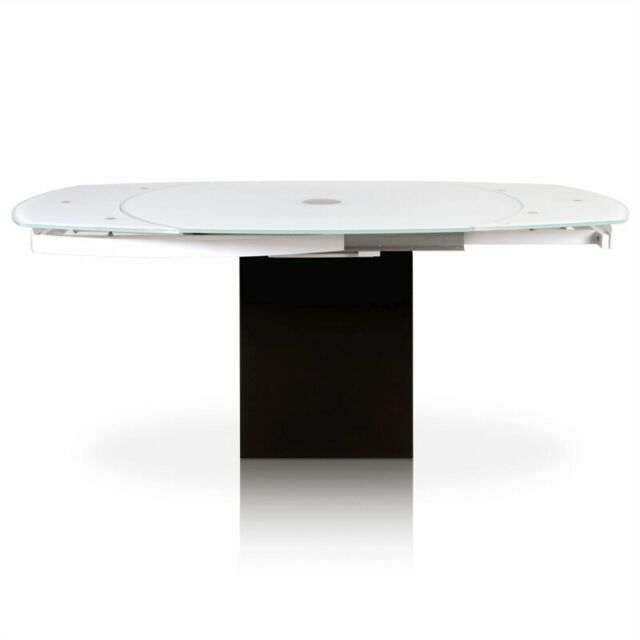 Era Extension Dining Table In Super White Glass And Black Granite Pertaining To Extension Dining Tables (View 18 of 25)