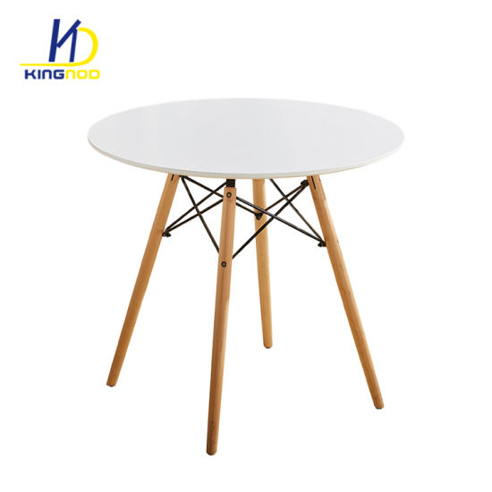 Europe Style Strong Matte Gloss Mdf Top Wood Legs Modern With Eames Style Dining Tables With Wooden Legs (View 4 of 25)