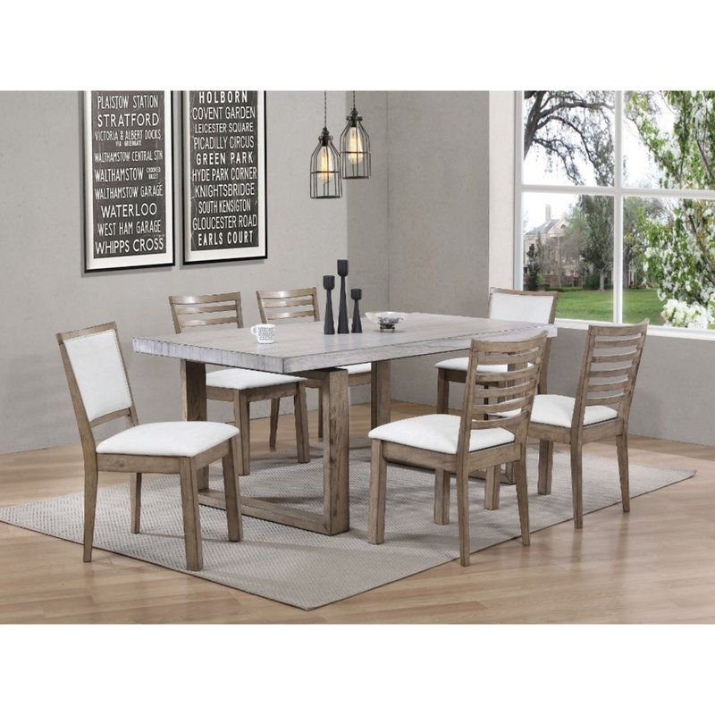 Evgenia Dining Table In 2019 | Dining Table, Solid Wood In Transitional Rectangular Dining Tables (View 5 of 25)