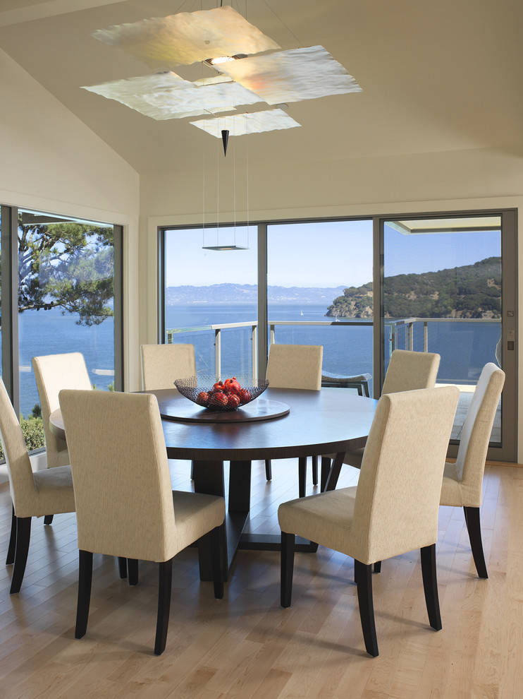 Expandable Round Dining Table Room Contemporary Architect With Regard To 8 Seater Wood Contemporary Dining Tables With Extension Leaf (View 11 of 25)