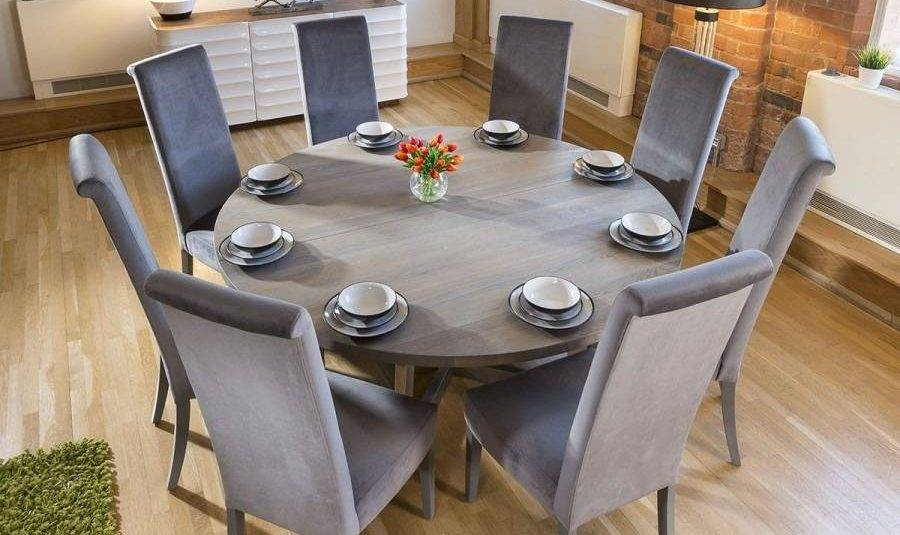 Extra Large Solid Wood Dining Table Rooms Hairpin Legs White For Solid Wood Circular Dining Tables White (Image 10 of 25)