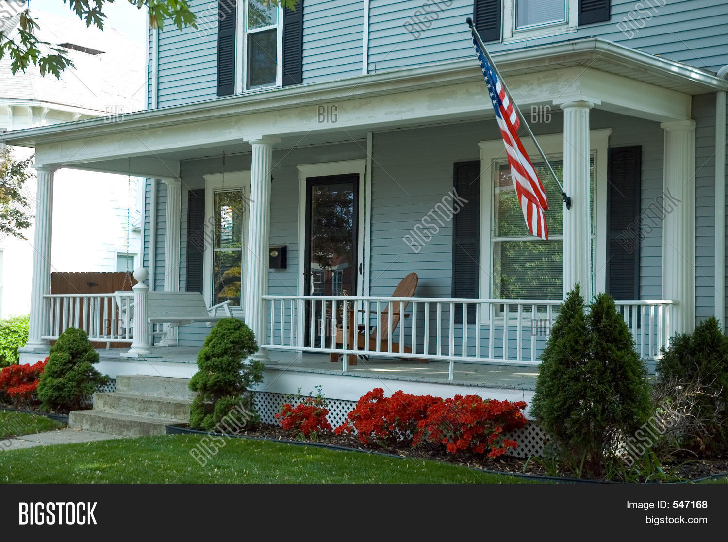🔥 American Front Porch – 547168 Image & Stock Photo Throughout American Flag Porch Swings (View 8 of 25)