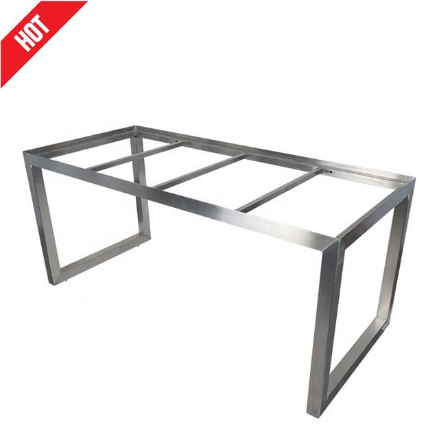 Factory Sale Custom Furniture Wholesale Cheap Metal Desk Base Brush Polished 304 Stainless Steel Work Office Dining Table Frame – Buy Table Frame,304 For Long Dining Tables With Polished Black Stainless Steel Base (View 18 of 25)