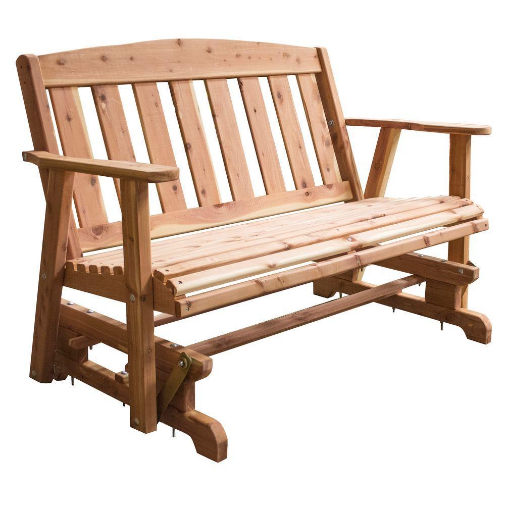 Famous Outdoor Cedar Bench &rb03 – Advancedmassagebysara Regarding Cedar Colonial Style Glider Benches (View 17 of 25)