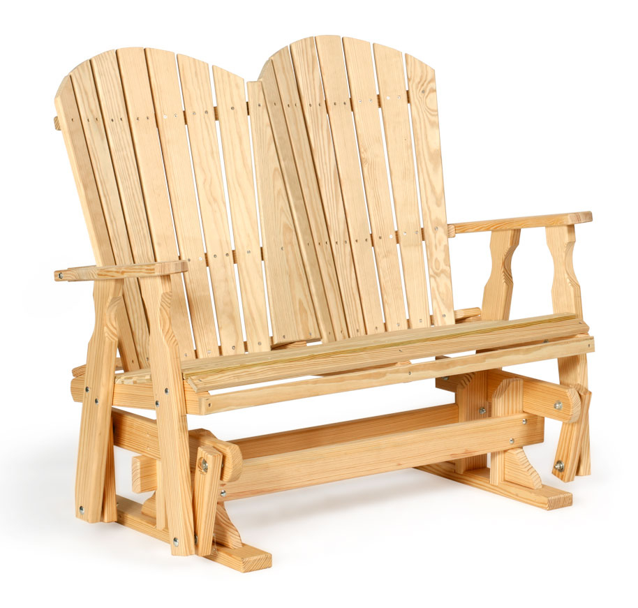 Fanback Glider Wood #340 – Leisure Lawns Collection For Fanback Glider Benches (View 17 of 25)