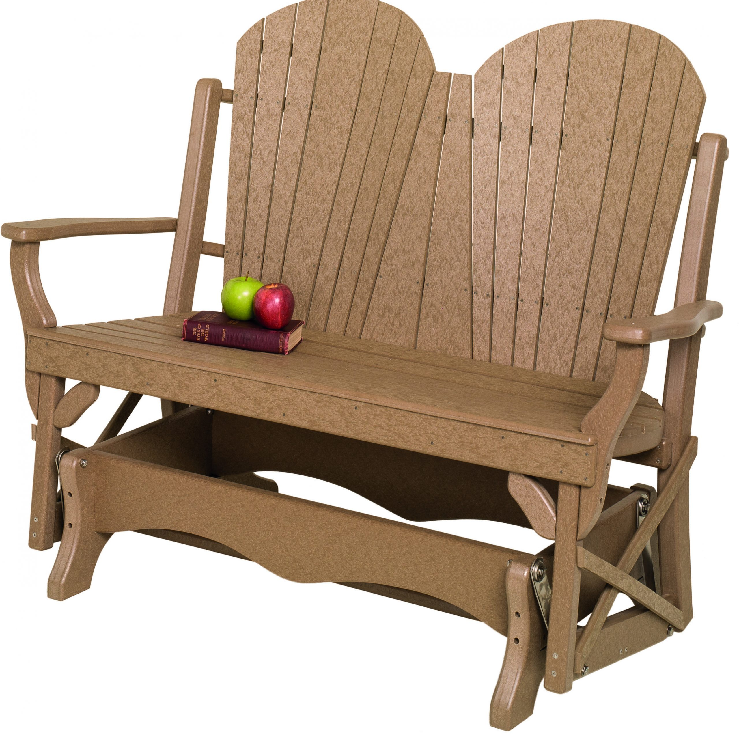 Fanback Recycled Poly Double Glider Regarding Fanback Glider Benches (View 20 of 25)