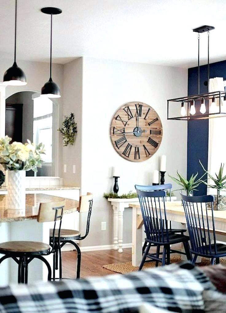 Farmhouse Dining Room Decorating Ideas Decor Gorgeous Rustic With Regard To Small Rustic Look Dining Tables (Photo 17 of 25)