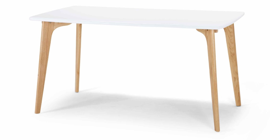 Fjord 6 Seat Dining Table, Dark Stain Oak And Grey For Contemporary 6 Seating Rectangular Dining Tables (View 16 of 25)