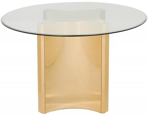 Fox9049A – Safavieh Regarding Modern Gold Dining Tables With Clear Glass (View 26 of 26)