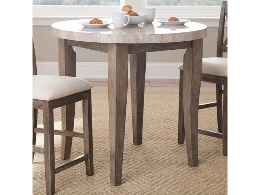 Franco White Marble Top Round Counter Table | For The Home Pertaining To Morris Round Dining Tables (View 6 of 25)