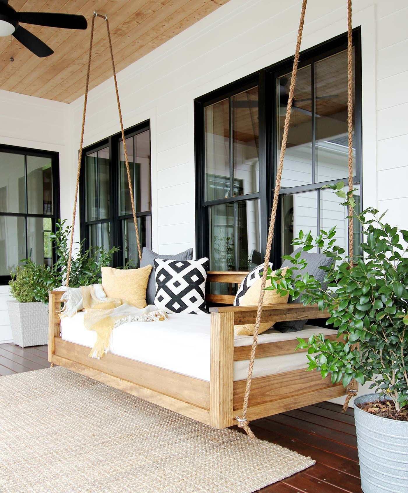 Free Diy Porch Swing Plans & Ideas To Chill In Your Front Intended For Patio Hanging Porch Swings (View 3 of 25)