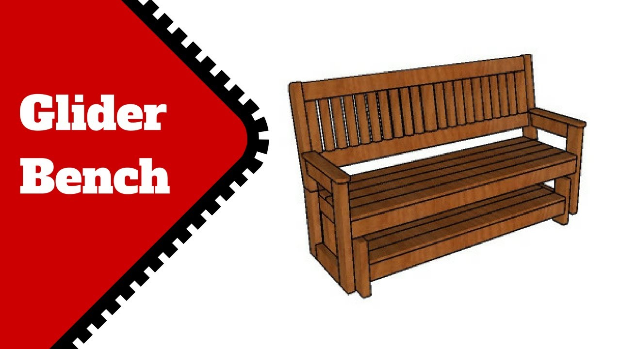 Free Glider Bench Plans For Hardwood Porch Glider Benches (View 16 of 25)