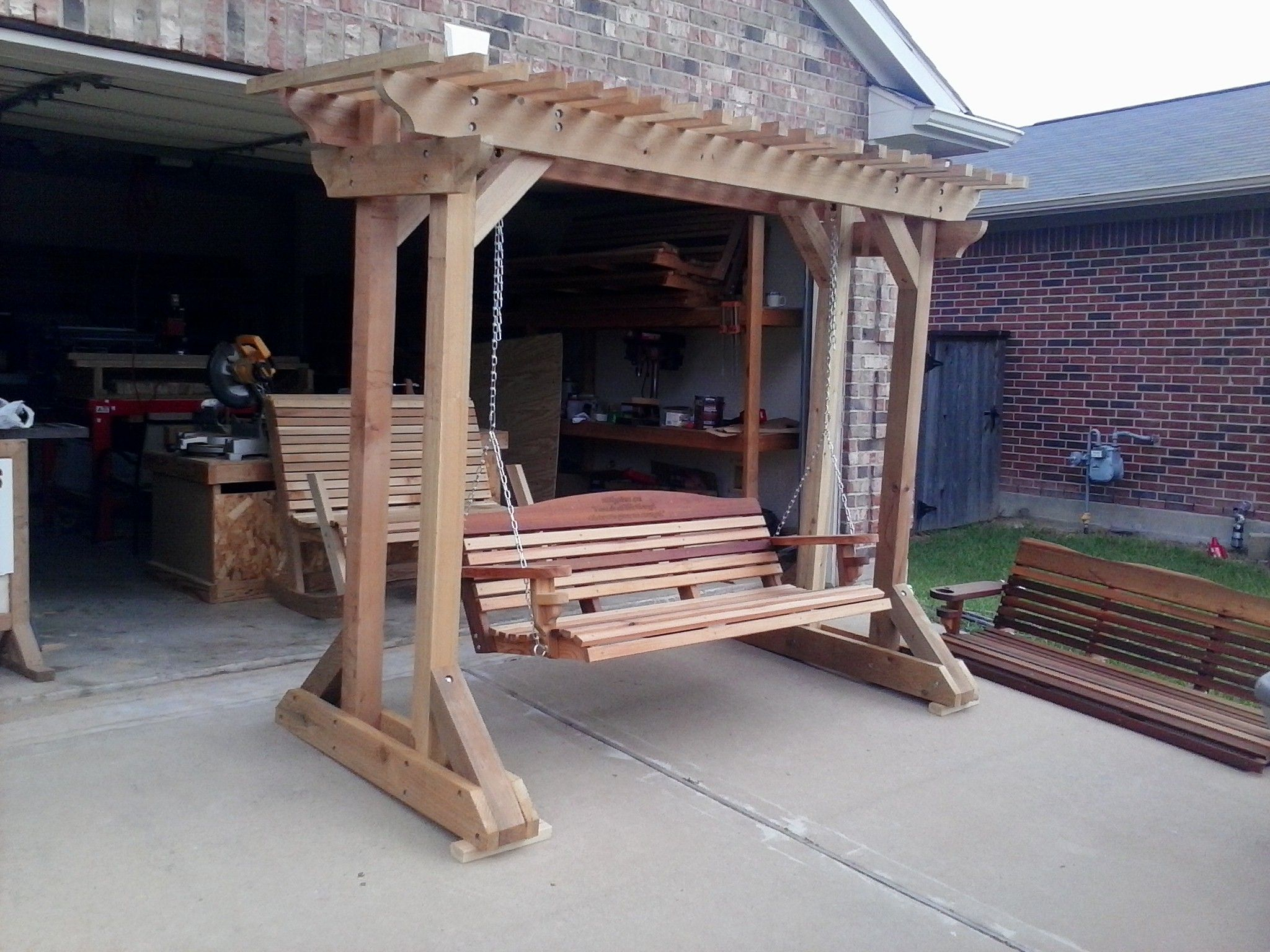 Free Standing Arbor – Plans Only, We No Longer Sell This With Regard To A4 Ft Cedar Pergola Swings (Image 15 of 25)