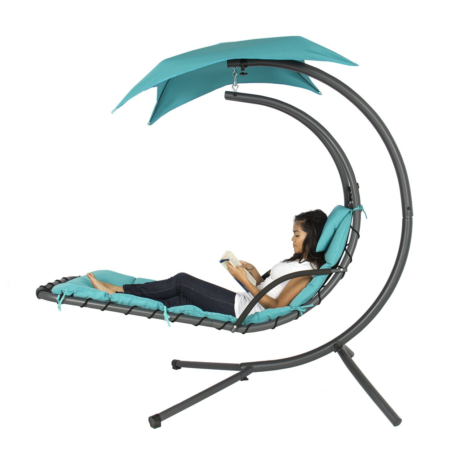 Free Standing Hammock: Forget About Insomnia And Rejuvenate Within Outdoor Canopy Hammock Porch Swings With Stand (View 18 of 25)