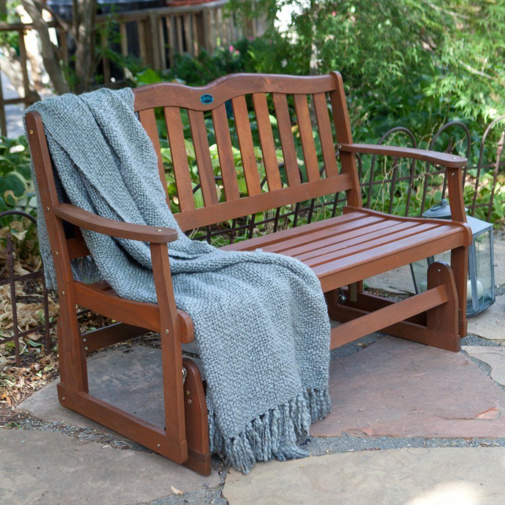 Front Porch Furniture Glider Loveseat Outdoor Patio Swing Inside Outdoor Patio Swing Glider Benches (View 13 of 25)