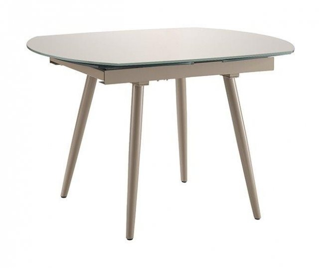 Fulham Glass Extending Dining Table With Extension Dining Tables (View 12 of 25)
