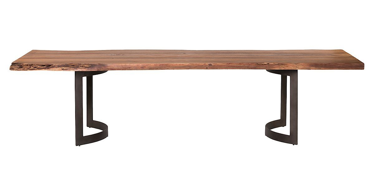 Full Of Modern Sensibility And Organic Beauty, This Spacious Throughout Acacia Wood Top Dining Tables With Iron Legs On Raw Metal (Image 10 of 25)