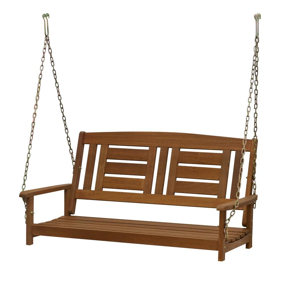 Furinno Tioman Hardwood Hanging Porch Swing With Chain In Porch Swings With Chain (View 19 of 25)