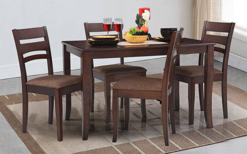 Furniture Dining Room Apex Solid Wood Set Cushioned Chairs For Solid Wood Circular Dining Tables White (Image 11 of 25)